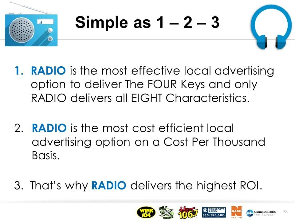 Radio and digital advertising