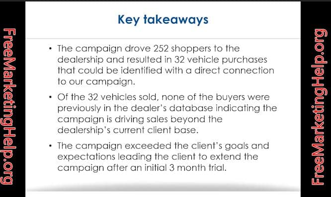 Auto Dealership advertising case study